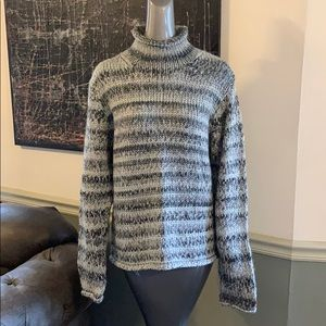Columbia Funnel Neck Knit Wool Blend Sweater